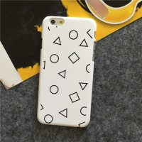 Casing Iphone 6 Premium Hardcase White With Black Shapes