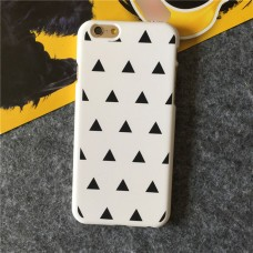 Casing Iphone 6 Premium Hardcase White With Black Triangles