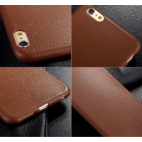 Casing Iphone 6 Premium Softcase Silicon Leather Brown