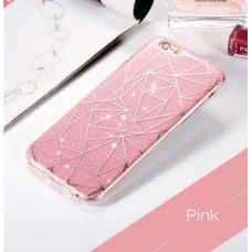 Casing Iphone 6 Premium Softcase Pink Glitter Dust
