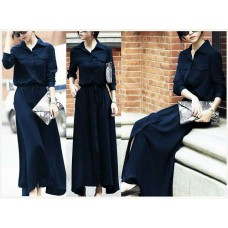 Lyna Maxi Dress Navy