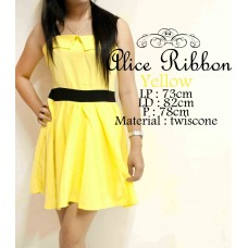 Alice Ribbon Yellow Bright